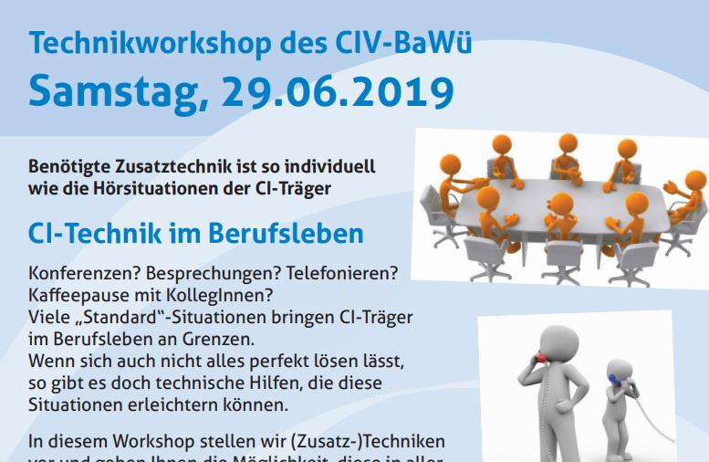 Technikworkshop: CI-Technik im Berufsleben